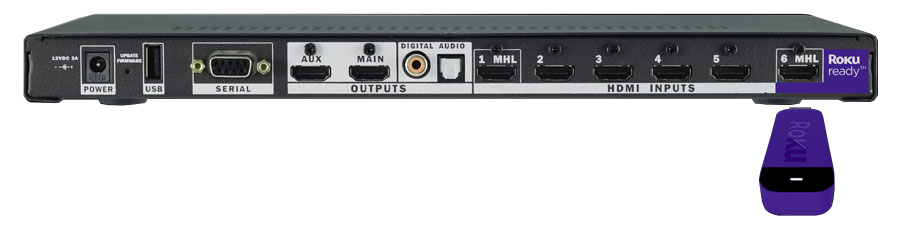 DVDO Quick6R 4K HDMI switch box (back)