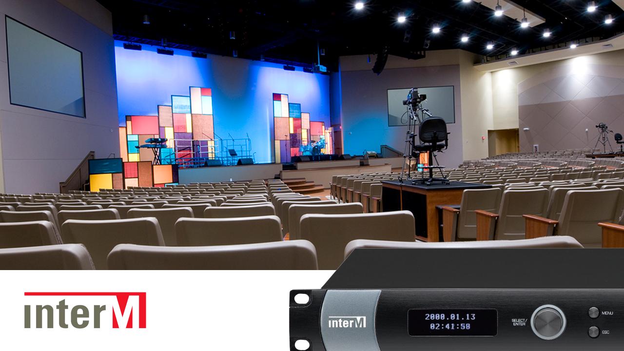 Inter-M NPX-8000 audio matrix system auditorium