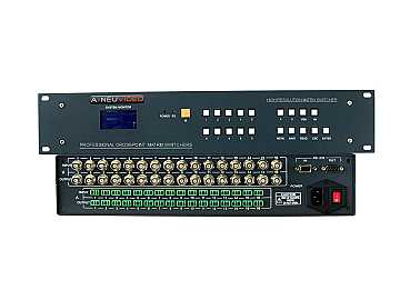 ANI-V404-A 4x4 High-Performance Composite Video Matrix Switcher w Audio by A-NeuVideo
