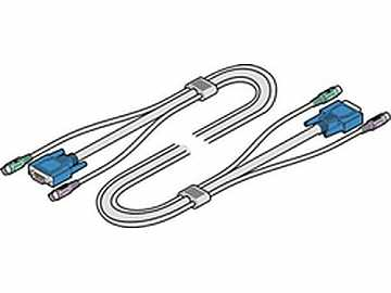 VKVM-2M Tri-Cable VGA and 2x PS/2 2M 6ft by Adder