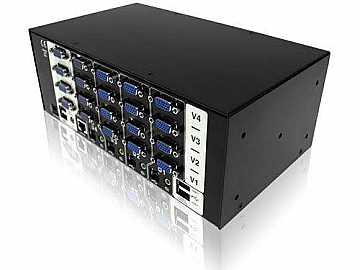 AV4PRO-VGA-TRI-US VGA (Triple Video) USB 4 port switch(USB True Emulation) by Adder