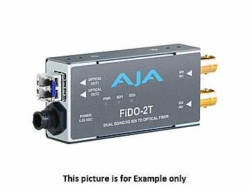 FiDO-2T-X Dual Channel SDI to LC Fiber Extender (Transmitter) Multi-Mode/CDWM SFP by AJA