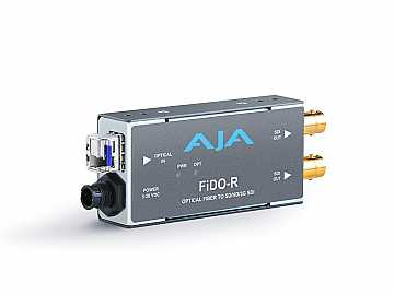 FiDO-R Single channel LC Fiber to SDI Extender (Transmitter) dual SDI outputs up to 10km by AJA