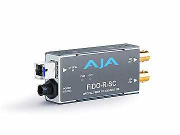 FiDO-R-SC Single channel SC Fiber to SDI Converter/Extender (Receiver) dual SDI outputs to 10km by AJA