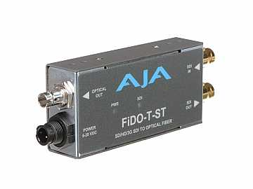 FiDO-T-ST Single channel SDI to ST Fiber Converter/Extender (Transmitter) SDI loopout up to 10km by AJA
