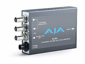 ADA4 4-Ch Bi-Directional Audio A/D and D/A Converter or AES Synchronizer by AJA