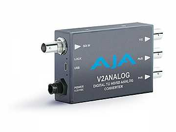 V2Analog HD/SD-SDI to Component/Composite Analog Mini-Converter by AJA