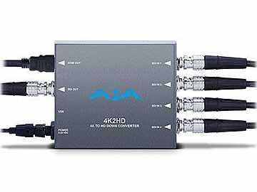4K2HD 4K/UHD to HD-SDI and HDMI Down-converter by AJA