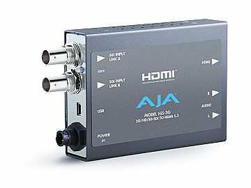 HI5-3G 3G/Dual Link/HD-SD-SDI to HDMI Video and Audio Converter by AJA