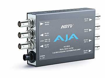 HD10DA 1x6 SD/HD Dual Rate Distribution Amplifier (Auto Equalizer to 125m) by AJA
