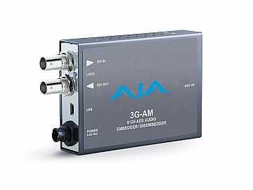 3G-AM-BNC 3G-SDI 8-Ch AES Embedder/Disembedder w BNC cable by AJA