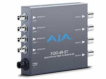 FiDO-4R-ST 4-channel Optical Fiber to 3G-SDI Converter by AJA