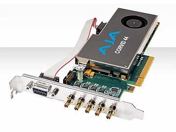 Corvid 44-T-NC1 Strd-profile 8-lane PCIe Card w 4 x SDI I/O (no cable incl) by AJA