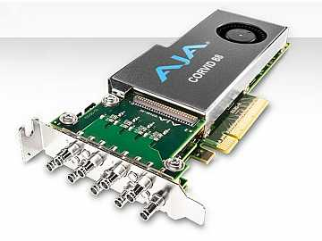 Corvid 88-S 2 Gen PCIE 8 channel I/O card/4K capable/short PCIe bracket/no cables by AJA
