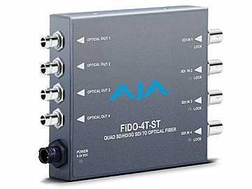 FiDO-4T-ST 4-channel 3G-SDI to Optical Fiber Converter by AJA