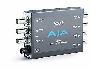 GEN10 HD/SD Sync Generator (7 outputs) simultaneous HD and SD sync by AJA