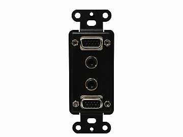 CNK-IP-213 Dual VGA and Audio Plate for CNK210 by Altinex