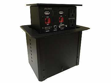 PNP408 POP N Plug Hybrid Tabletop Box HDMI/VGA/Audio/RJ45/USB/Power by Altinex