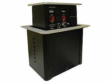 PNP408S POP N PLUG Hybrid 2-Sided Tabletop box HDM/VGA/AUDIO/RJ45/POWER by Altinex