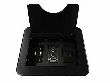 CNK210 CABLE-NOOK Tabletop Box HDMI/VGA/Audio/USB/Power/RJ45/Black by Altinex