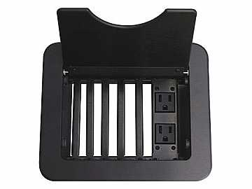 CNK240 Modular Empty Tabletop Interconect Box w 2 Power/Black by Altinex