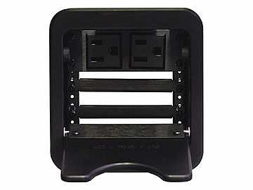 CNK241 CABLE-NOOK JR Tabletop Box Power Outlet/Retaining Brackets/Black by Altinex