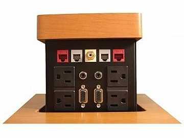 PNP517 Pop N Plug Custom Tabletop Box/VGA/RJ-45/RJ-11/RCA/Audio by Altinex