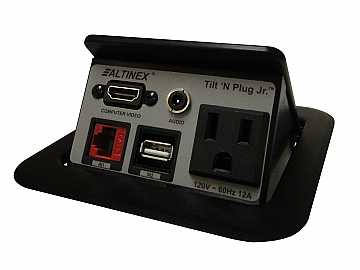 TNP125S Tilt N Plug Jr Tabletop Box w HDMI/USB/RJ-45/Audio/Silver by Altinex