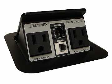 TNP150C TILT N PLUG JR Customized Tabletop Box Snap-In/Power Connectors by Altinex
