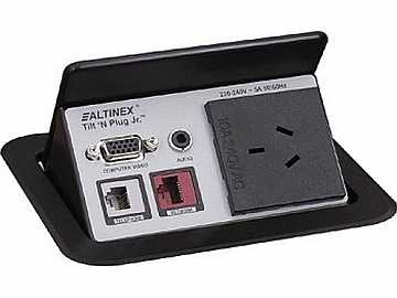 TNP441 Tabletop Box w Continental AU AC Power VGA 3.5mm/CAT6 by Altinex
