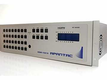 HDMI-16x16 16x16 HDMI 1.3a Matrix Switch (HDCP/1080p/Bi-Direct IR/RS232) by Apantac