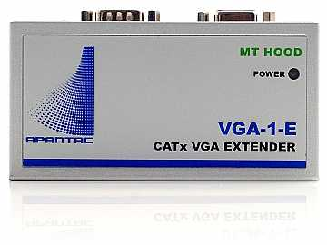 VGA-1-E Single Port VGA Extender (Transmitter) with Audio/Local Output up to 1000ft by Apantac