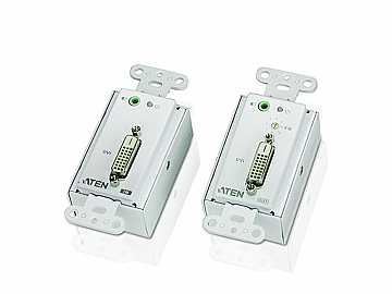 VE606 DVI Over Cat5 Wall plate Extender (Transmitter/Receiver) Kit by Aten