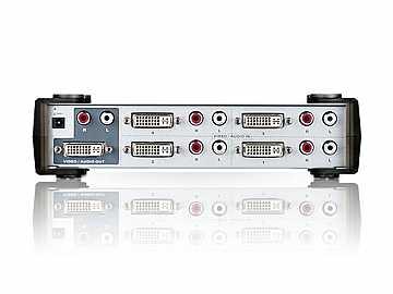 4 Port DVI and Audio Switch