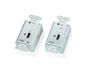 VE806 HDMI Over Cat 5 Wall Plate Extender (Transmitter/Receiver) Kit by Aten