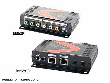 AT-COMP300RL Component video with analog/digital audio cat5 Extender (Receiver) with cat5/6/7 loop-out by Atlona