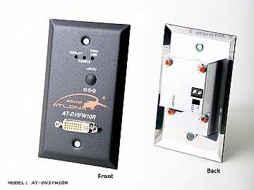 AT-DVIFW10R-b Wall Plate Style DVI Extender (Receiver) over single Multi Mode Fiber with HDCP and EDID Support by Atlona