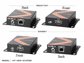 AT-HD4-SI40SR-b HIGH SPEED HDMI EXTENDER KIT OVER SINGLE CAT 5/6/7 WITH FULL 3D SUPPORT (1080p up to 130ft) by Atlona