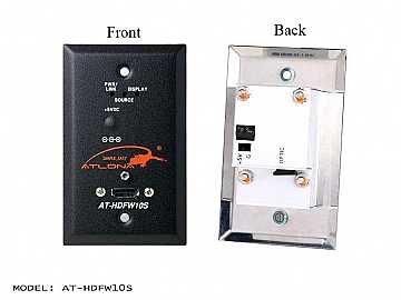 AT-HDFW10S-b Wall Plate Style HDMI Transmitter over single Multi Mode Fiber with HDCP and EDID Support by Atlona