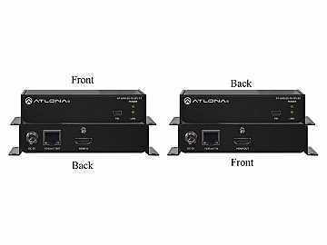 AT-UHD-EX-70-2PS-B 4K/UHD HDMI Over HDBaseT Extender(Receiver/Transmitter) Kit by Atlona