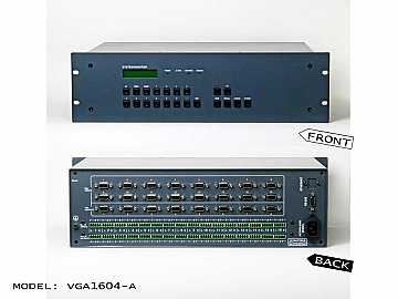 AT-VGA1604-A 16x4 Professional VGA with Audio Matrix Switch by Atlona