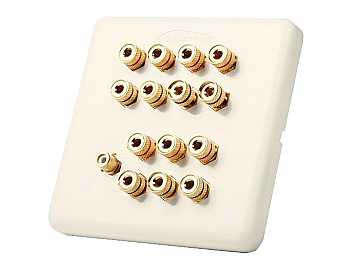 AT80140-RCA 7 Speaker Wall Plate With Subwoofer Input by Atlona