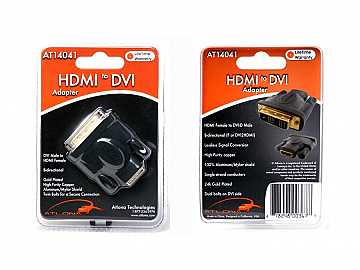 AT14041 HDMI FEMALE TO DVI MALE ADAPTER by Atlona
