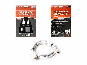 Mini DisplayPort male to HDMI female Adapter with 6ft HDMI cable by Atlona