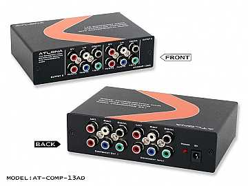 AT-COMP-13AD-b 1X3 COMPONENT VIDEO W/AUDIO DISTRIBUTION AMPLIFIER by Atlona