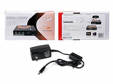 Component Video to S-Video and Composite Video Down Converter