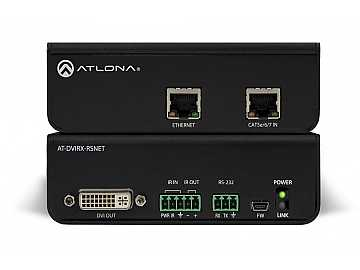 AT-DVIRX-RSNET-b DVI/HDBaseT Extender (Receiver)  with NET/RS-232/IR by Atlona
