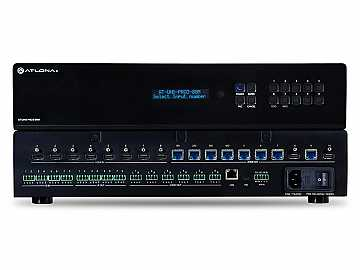 AT-UHD-PRO3-88M 4K/UHD Dual-Distance 8x8 HDMI to HDBaseT Matrix Switcher with PoE by Atlona