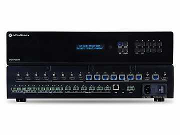 AT-UHD-PRO3-88M-B 4K/UHD Dual-Distance 8x8 HDMI to HDBaseT Matrix Switcher with PoE by Atlona