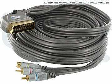 19-014L-10 10m/33ft HQ Scart to S-Video And Audio w In/Out Switch by Atlona